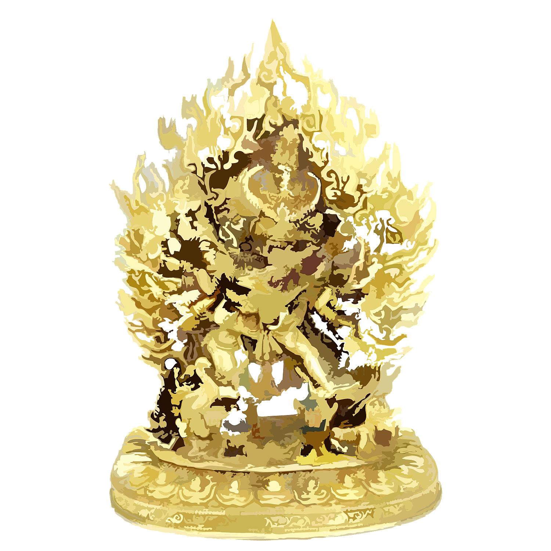 「【チベット鍍金仏】大威徳明王像」100,000円!